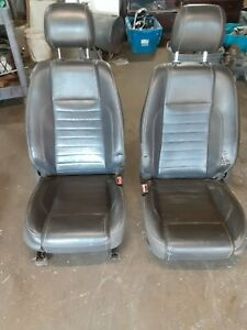 2010 2012 Ford Mustang Coupe Oem Front Rear Seat Seats Black Leather W Bag
