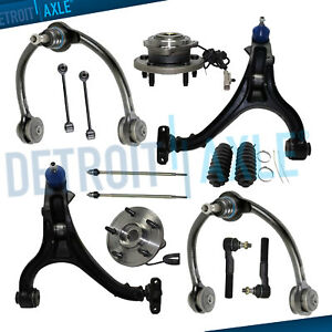14pc Front Control Arms Wheel Hub Kit For 05 10 Jeep Commander Grand Cherokee