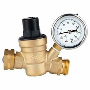 Water Pressure Regulator Valve Brass Lead Free Nh Connector