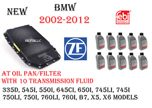 Zf Automatic Transmission Oil Pan filter Kit With X10 Fluids Bmw Land Rover Oem
