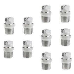 Set Of 10 Stainless Steel High Pressure Nozzle Tip 1 4 Pressure Washer Supplies