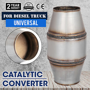 New 4 Universal High Flow Stainless Car Exhaust Catalytic Converter Use