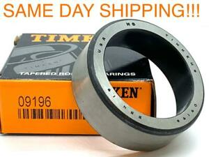 Timken 09196 Tapered Roller Bearing Cup Race Cone Outer Ring 1 938 Od 688 Wide