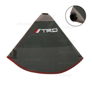 Jdm Trd Racing Hyper Fabric Shift Knob Shift Boot Cover Mt At Red Stitches