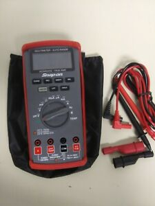 Snap on True Sms Automotive Multimeter Kit With Color Lcd Model Eedm525e