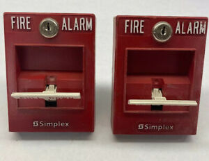 Lot Of Two Simplex Fire Alarm Pull Stations