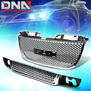 07 12 Gmc Yukon Chrome Mesh Front Upper Lower Hood Bumper Abs Grill Grille Guard