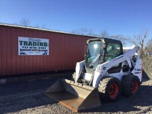 2014 Bobcat S650 Skid Steer Loader W Cab Only 2000 Hours One Owner Clean
