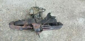 Chevy 250 292 Intake Exhaust Carb Manifold Heat Riser Has Been Welded Open