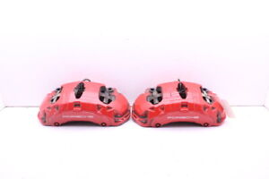 2011 2018 Porsche Cayenne Turbo Front Brake Caliper Set Pair Brembo Red