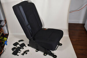 07 14 Ford Expedition Second Row Middle Seat Jump Seat Black Cloth Oem