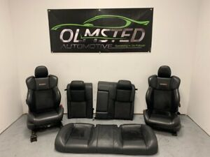 05 08 Chrysler 300c Srt 8 Seats Front Rear Leather Suede Black Factory Heated