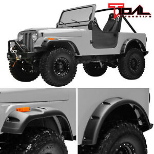 Tidal Fender Flares Pocket Rivet Wide Body Fit 59 86 Jeep Wrangler Cj5 6 7