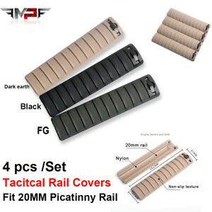 4Pcs Tacitcal Rail Cover Airsoft Base Cover Fit 20mm Picatiny Rails Softair $11.15