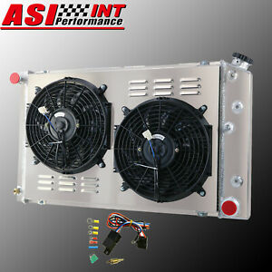 3 Row Aluminum Radiator Shroud Fan 1970 81 Chevy Camaro 78 87 Monte Carlo G Body