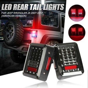Stop Led Tail Lights Turn Signal Offroad For Jeep Wrangler Rubicon Jk 2007 2018