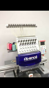 Avance 1501c Commercial Embroidery Machine 15 Needle Single Head