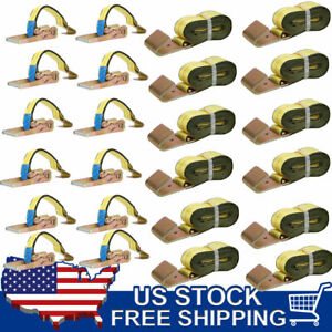 8 Lasso Strap Wrecker Car Hauler Truck Tow Dolly Tire With Flat Hook 24 Pack Re