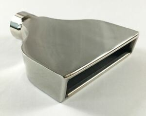 Exhaust Tip 7 75 X 2 25 Outlet 8 00 Long 2 75 Inlet Rolled Slant Rectangle St