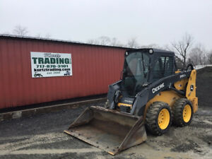 2017 John Deere 316gr Skid Steer Loader W Cab Joystick Rear Camera Only 1300hrs