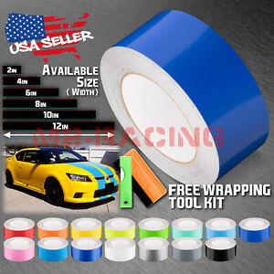 Gloss Color Racing Stripes Vinyl Wrap Decal For Scion Tc Sticker 10ft 20ft