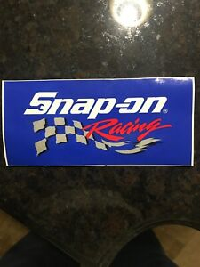 New Vintage Snap On Tools Racing Tool Box Sticker Decal New Logo