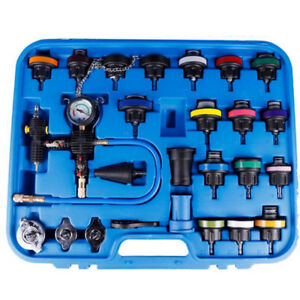 Radiator Pressure Tester Kit Coolant Vacuum Purge Refill With Adapters 27pc