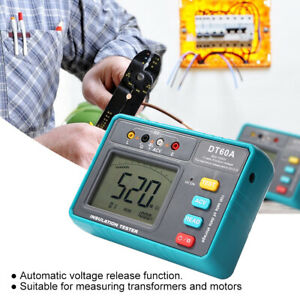 Dt60a 50v 1000v Voltmeter Insulation Resistance Tester Diagnostic Tools Green