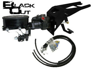 Black Out 1955 59 Chevy gmc Firewall Wilwood Hydro boost With Rubber Hose Kit