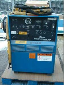 Miller Ac dc Cc Tig Welder 1ph 200 230 460v Syncrowave 500 Water Cooled Torch