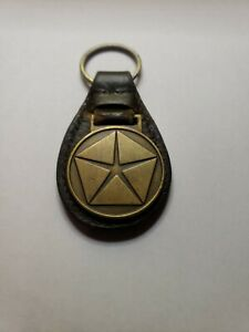 Vintage Plymouth Dodge Leather Key Ring