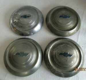 1949 50 Chevrolet Dog Dish Hub Caps Hubcap Chevy Set
