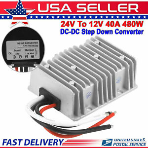 Dc Dc Converter 40 Amp 24 Volt Voltage Reducer Regulator To 12volt 40 Amp 480w