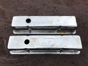 Vintage Holley Chrome Valve Covers Sbc