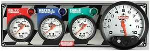 Quickcar Racing Products 3 1 Gauge Panel Op wt fp tach P n 61 6042