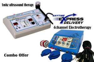 New Combo 4 Ch Electrotherapy 1mhz Ultrasound Therapy Physical Swelling Relief