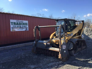 2007 Caterpillar 268b Xps Compact Track Skid Steer Loader Cab Mulcher 2800hrs