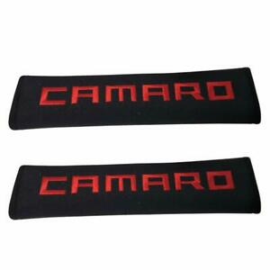 Pair Car Shoulder Pad Cushion Car Seat Belt Cover For Chevy Camaro