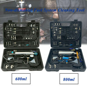 Non Dismantle Fuel Injector Tester Cleaner Kit Petrol Auto Throttle 600ml 800ml