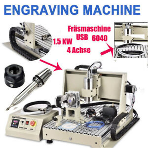 Usb 4axis 1 5kw Cnc 6040 Router 3d Engraver Metal Engraving Drill Mill Machine