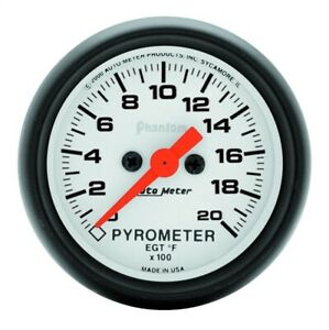 Autometer 5745 Phantom Electric Pyrometer Gauge Kit