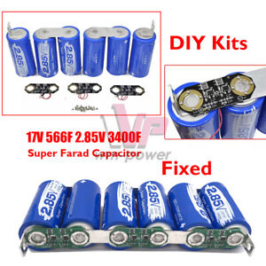17v566f Farad Super Capacitor 2 85v 3400f Single Row Diy Power Electric Capacity
