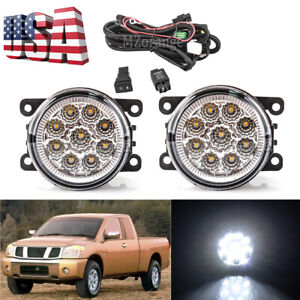 Led Fog Light Lamp Wire Harness Switch For Nissan Frontier Armada Titan Xterra