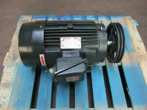 Toshiba Inverter Duty 20 Hp Electric Ac Motor 1770 Rpm 256t Frame Used