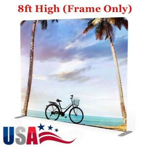Us Stock 8ft High Portable Tension Fabric Exhibition Wall Trade Show Frame Only