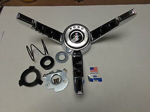 Rare 1965 1966 T 5 Ford Mustang Steering Wheel 3 Spoke Horn Ring Made In Usa