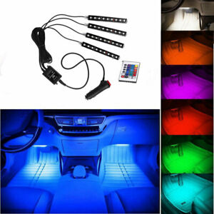 Led Interior Car Kit Under Dash Footwell Seats Inside Rgb Lighting Remote 7color