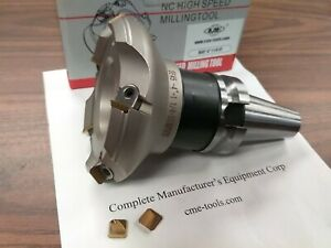4 45 Degree Indexable Face Shell Mill W Bt40 Arbor Face Milling Cutter new