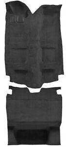 New 1985 1992 Chevy Camaro Front Rear Black Molded Carpet Set W Padding