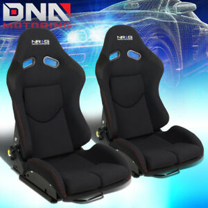 Nrg Innovations Fabric Reclinable Back Racing Bucket Seat Left right Rsc 400bk